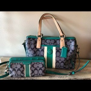 Coach Purse and matching wristlet wallet